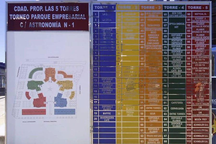 Sevilla LEDS. Directorios de oficinas