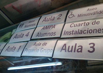 Galería de trabajos de Rótulos luminosos. Directorios de oficina. Sevilla LEDS rótulos e iluminación.